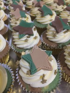 Army themed birthday cupcakes