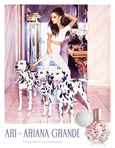 Ari by Ariana Grande fragrance advertising campaign