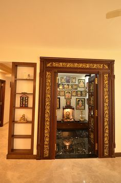 Sai & Anusha's Apartment is Inspired by Chettinad Houses - Upload Box Temple Design For Home, Indian Home Design, Indian Home Interior, Ethnic Home Decor, Indian Home Decor, Chettinad House, Mandir Design, Pooja Room Door Design, Pooja Rooms