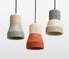 Cement Wood Lamps represent a marriage of the smoothness of wood withthe rough texture of concrete featuring a concrete bottom and a natural Beech top. Mix and match colors and textures for an impressive display. Specifications: Concrete Beech wood Textile cable Diameter: 5.125 inches Height: 7 inches Weight: 3.3 lbs Design By: Decha Archjananun/Thinkk Studio