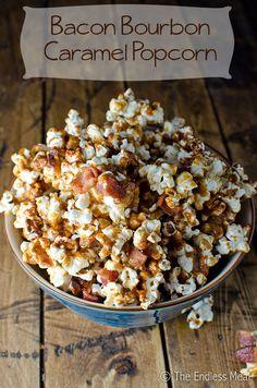 Bacon Bourbon Caramel Popcorn - with 1/4 tsp cayenne
