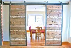 Barn Doors in Reclaimed Wood - Tracks Included. $1950,00, via Etsy.