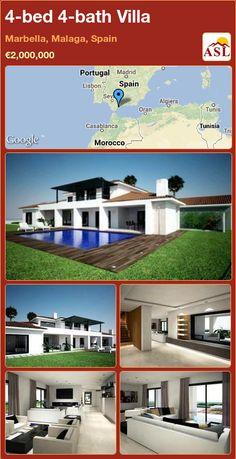 4-bed 4-bath Villa in Marbella, Malaga, Spain ►€2,000,000 #PropertyForSaleInSpain
