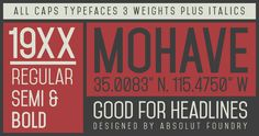 Mohave Typefaces on Behance