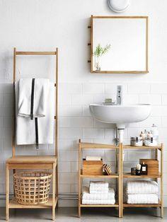 kleines bad ideen badezimmer möbel badmöbel holz