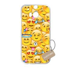 Buy Diy Customized Cell Phone Case for Funny Face Emoji White HTC One M8 Hard Back Cover Shell Phone Case (Fit: HTC One M8) NEW for 1.99 USD | Reusell