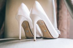 Our gorgeous diamante I Do stickers on our beautiful brides shoes! Bride Shoes, Wedding Shoes, Heel Stoppers, Pumps, Heels, Your Shoes, Beautiful Bride, Christian Louboutin, Cleaning