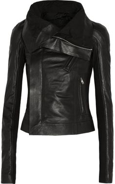 $2,735, Eliel Leather Biker Jacket by Rick Owens. Sold by NET-A-PORTER.COM. Click for more info: http://lookastic.com/women/shop_items/138803/redirect