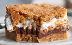 Try resisting these buttery graham cracker cookie dough layered with chocolate, peanut butter, and marshmallow cream