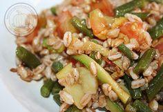 Spelt Salad Vegetarian >> Insalata di farro vegetariana