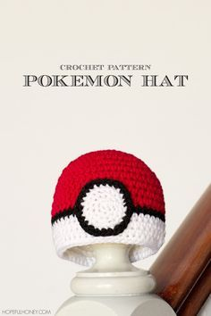 For fans of Pokemon, dress your newborn in this Baby Pokeball Crochet Hat Pattern. This free crochet pattern resembles a Pokeball waiting to unleash the creatures it stores. Crochet Baby Hats Free Pattern, Pokemon Crochet Pattern, Bonnet Crochet, Crochet Kids Hats, Crochet Cap, Crochet For Boys, Crochet Beanie, Crochet Crafts, Crochet Hooks
