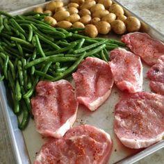 Boneless Pork chop and Veggies Pan Dinner