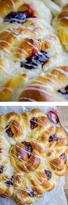 These Raspberry Pull-Apart Buns are shaped like a flower, and have just as many calories! Just kidding, who eats flowers, gross. But it's a really delicious breakfast option for Mother's Day or Easter brunch! The coconut glaze totally makes it!