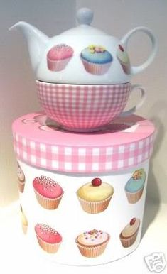 Cupcakes Tea for One Set