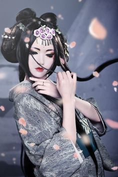 Gijo ( Gijo ) , it courtesan or geisha in China ] . Song and dance , and to please the people in a number of accomplishments , there was also sometimes mediate the entertainment banquet . Geisha Samurai, Art Geisha, Geisha Kunst, Geisha Makeup, Japanese Beauty, Japanese Fashion, Asian Beauty, Japanese Style, Japanese Girl