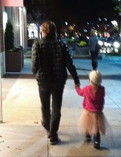 Keith Urban w/ his Daughter in Nashville