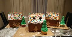 Ginger Bread House Decorating for Christmas by Hungry Hubby and Family Family Recipes, Family Meals, Christmas Gingerbread House, Christmas Decorations For The Home, Ginger Bread, Cousins, Entertaining, Decorating, Desserts