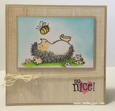 So Nice! Materials used: Stamps - Hello Sunshine (Lawn Fawn), Paint the Town (Penny Black); Cardstock - Unknown; Designer Paper - Rise & Shine (Amy Tangerine/American Crafts); Copic Makers; Distress Inks; Dies - Die-namics Blueprints 8 (My Favourite Things); Wink of Stella, and Thread.