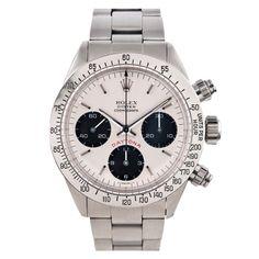 Rolex Stainless Steel Big Red Daytona Chronograph Wristwatch circa 1980