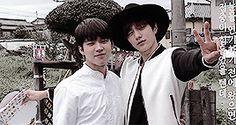 Myungsoo supporting his Namu hyung on the set for Namu's MV. Myungsoo followed Namu all the way to Japan.