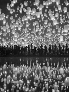 Principle (Unity): the lanterns rising up to the sky, the people in photo and the faint reflection seen in the water all help the individual parts of the photograph come together and support each other to make a unified whole.