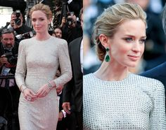 Emily Blunt in earrings by Anna Hu - Cannes 2015