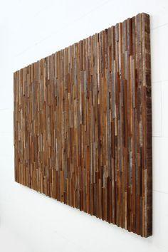 Reclaimed wood wall art 60 x 40 x 2 by CarpenterCraig on Etsy