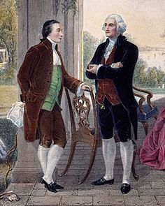 Marquis de Lafayette and George Washington at The Home of Washington