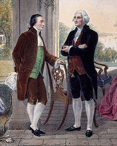 Marquis de Lafayette and George Washington at The Home of Washington
