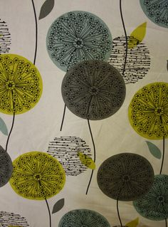 Dandelion print fabric