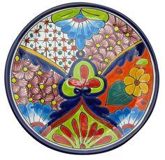 Talavera Hand Painted Decorative Plate  sc 1 st  Pinterest & Mexican colorful talavera decorative plate 11 1/2