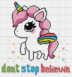 Cute unicorn funny cross stitch pattern available on Etsy #crossstitch #cute #funny #girlie #quotes #magical #embroidery #pattern #pontocruz #gráficos #esquemas #unicorn