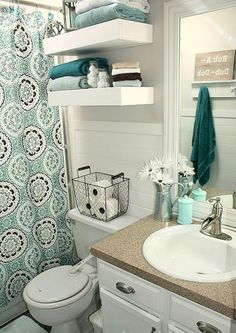Nice 65 Fresh and Cool Small Bathroom Remodel Ideas on A Budget https://homstuff.com/2017/10/14/65-fresh-cool-small-bathroom-remodel-ideas-budget/