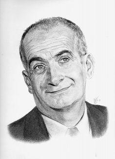 Pencil Portrait Mastery - ARitz - Dessinatrice au Fusain, Pastel sec, Pierre noire et Crayon Gomme - Louis de Funs - Discover The Secrets Of Drawing Realistic Pencil Portraits