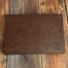 Large Walnut Personalized End Grain Cutting Board, Custom Walnut Carving Board, Manly Cutting Board, Large Butcher Block