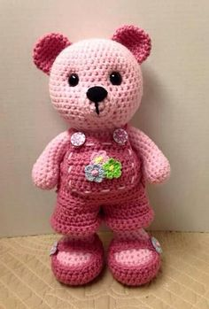 Mesmerizing Crochet an Amigurumi Rabbit Ideas. Lovely Crochet an Amigurumi Rabbit Ideas. Crochet Teddy Bear Pattern, Crochet Bear, Cute Crochet, Crochet Animals, Crochet Crafts, Crochet Dolls, Crochet Projects, Beautiful Crochet, Crocheted Toys