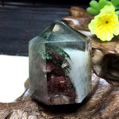 Rare Natural Green Phantom Crystal/Green Phantom Crystal/Guest…
