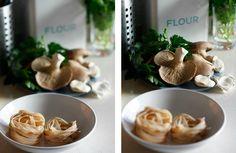 Taglietelle di farro con funghi cardoncelli