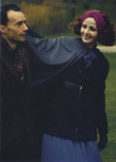 Jacques Rivette and Juliet Berto on the set of Duelle