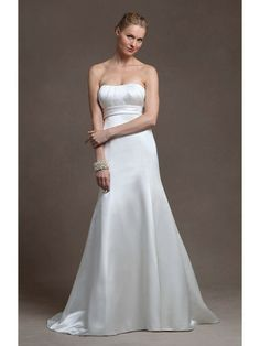 Satin Strapless Sweetheart A-line Wedding Dress