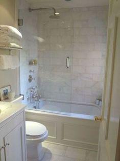 Bathtub Shower Combo, Bathroom Tub Shower, Master Bathroom, Bathroom Ideas, Budget Bathroom, Bath Ideas, Diy Shower, Bathroom Laundry, Gold Bathroom
