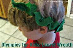 Olympics for Kids: Create a laurel wreath