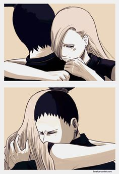 this is when both their fathers died during the war. Naruto Kakashi, Anime Naruto, Naruto Shippuden, Boruto, Manga Anime, Shikadai, Shikatema, Fairy Tail Family, Naruto Teams