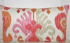 BOTH SIDES 24 x 14 lumbar Modern Ikat pillow cover by playpurdys, $35.00
