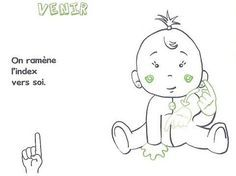 Baby sign language is now being taught to non hearing impaired children as early as 6 months for a variety of reasons. Sign Language Phrases, Baby Sign Language, Learn Asl Online, Deaf Children, French Signs, British Sign Language, Simple Signs, Kids House, Got Him