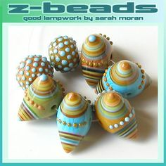 I see nothing nightmarish in these Scandanavian Nightmare lampwork beads by ZBeads on etsy. MonaRaeBeads.etsy.com