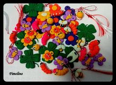 Martisoare vesele Christmas Ornaments, Holiday Decor, Spring, Home Decor, Fimo, Decoration Home, Room Decor, Christmas Jewelry, Christmas Decorations