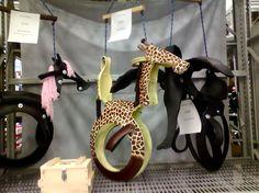 Animal tire swings!