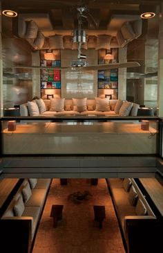 Super yacht with mirrored ceilings