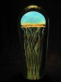 glass art jellyfish
